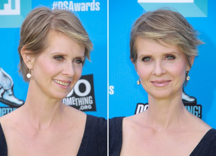 Cynthia Nixons Pixie Short Low Maintenance Hairstyle