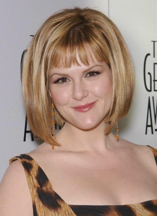 Sara Rues Bob Hairstyle With Gradually Longer Sides Cut