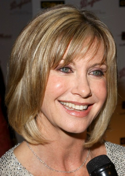 Olivia Newton Johns Bob Modern Mature Hairstyle
