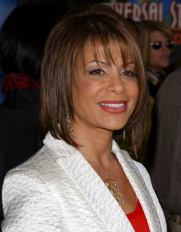 Paula Abdul S Medium Length Hairstyle With Texturized Layers