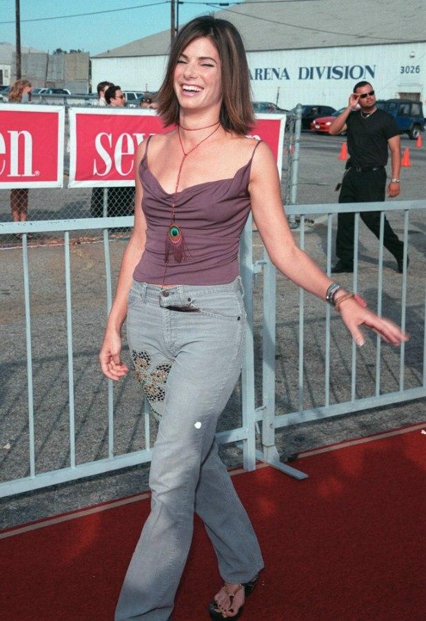 Sandra Bullock Youthful Medium Length Hairstyle With