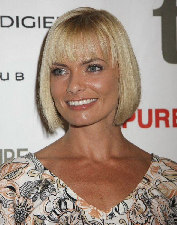 Jamie Presslys Under The Chin Line Bob With Bangs That