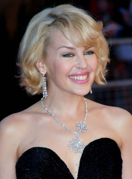 Kylie Minogues Easy To Copy Wavy Short Bob With Lifted Roots