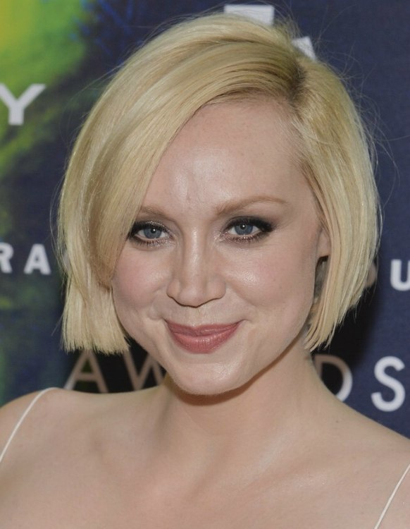 Gwendoline Christie Short And Slightly Curved Bob For