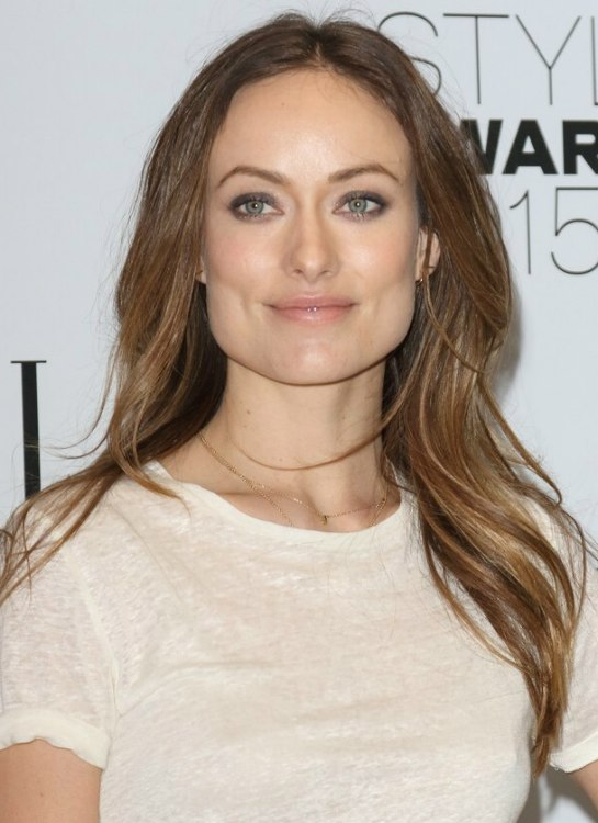 Olivia Wilde Long Hair With A Center Part For A Square