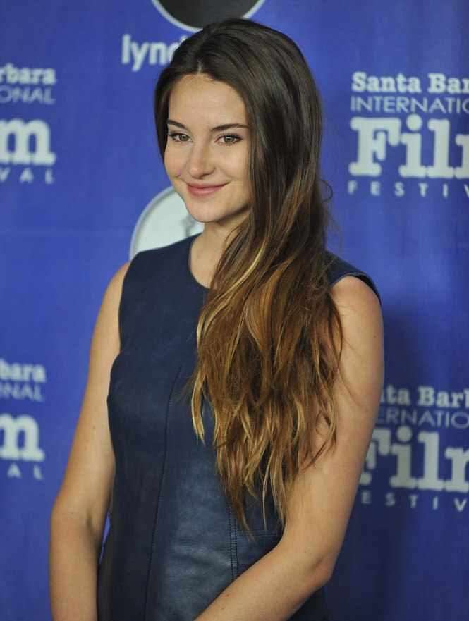 Shailene Woodleys Super Long Thick Hair With Ombre Coloring