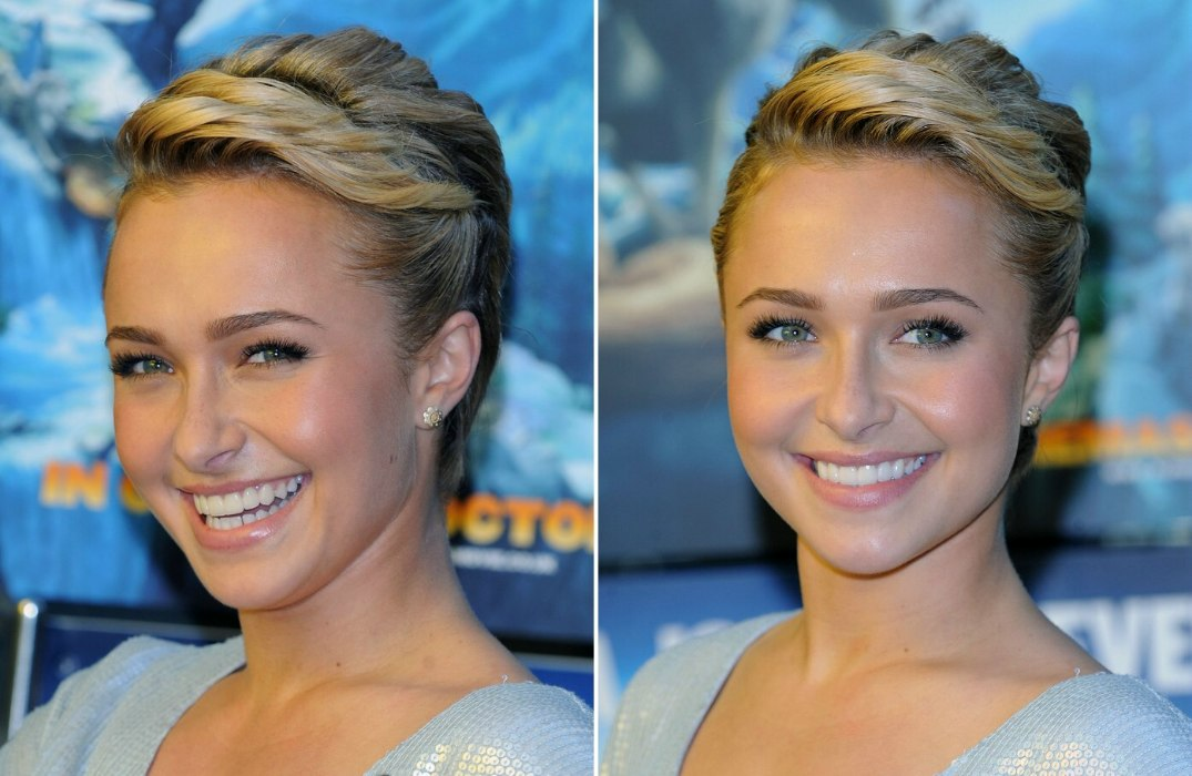 Hayden Panettiere Pixie Hairstyle With Braids And