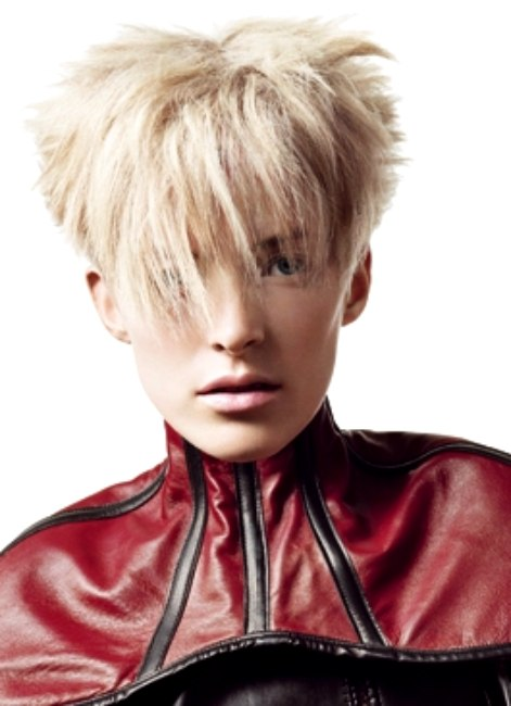 Short New Wave Hairstyle With A Graduated Back Of The Head