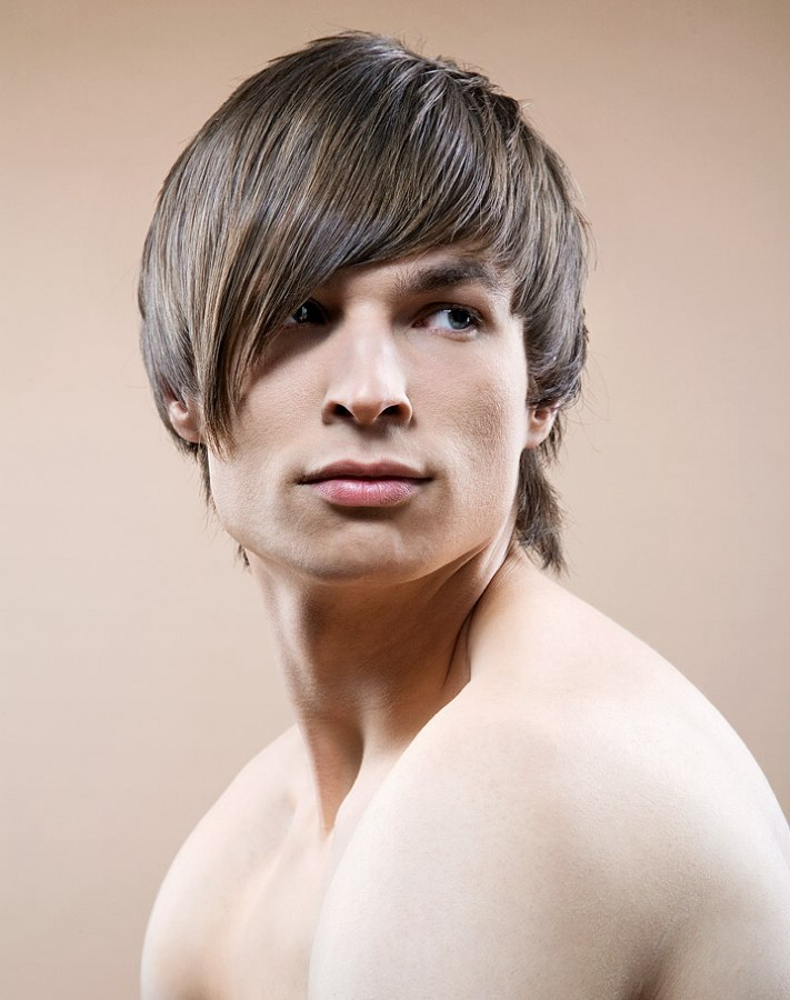 Razor Cut Mens Hairstyle With A Longer Nape Area