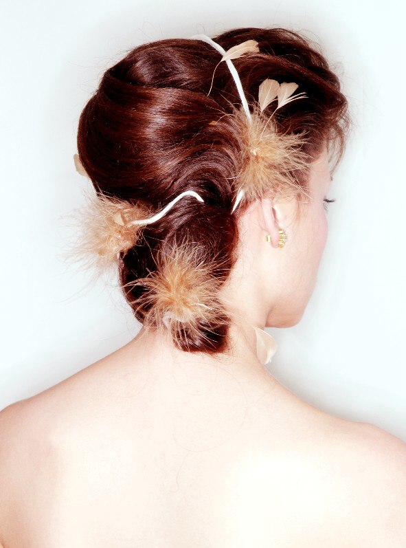 Up Do With A Banana Bun On The Back Of The Head