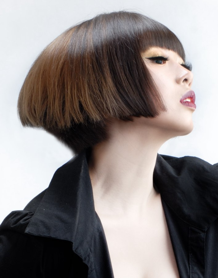 Asian Hairstyle Modern Stacked Bob With An Axtra Short Nape