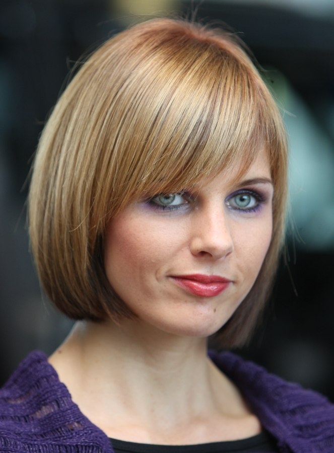 Timeless Hairstyle Blunt Bob With Tapered Sidelines
