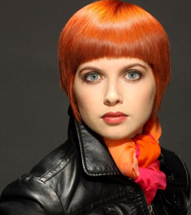 Short Orange Hair Styled Sleek Or With Spikes