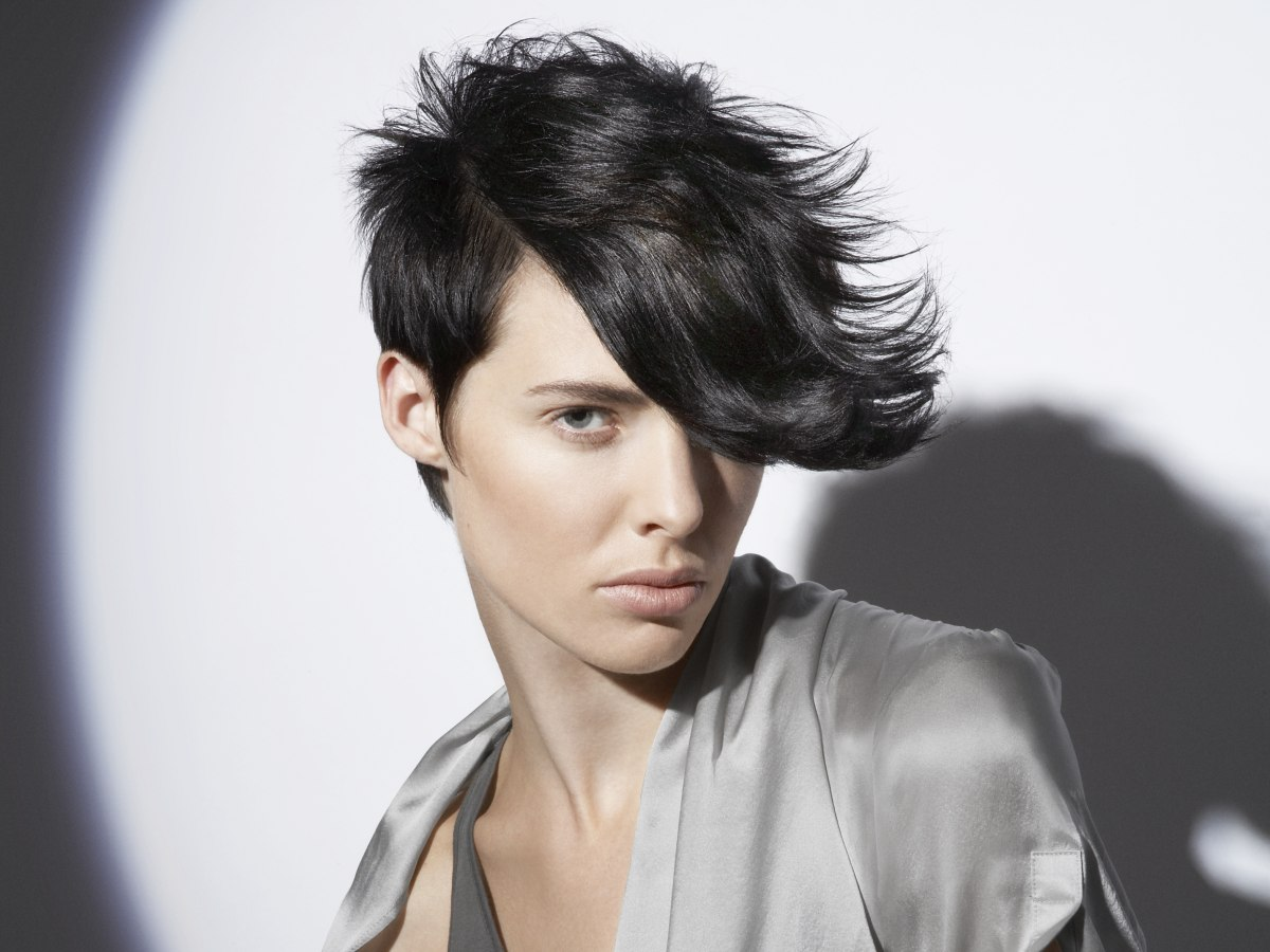 Boyish Short Haircut With A Close Crop Around The Ears And