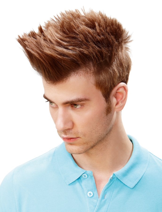 Mens Hair That Stands Up In Spikes