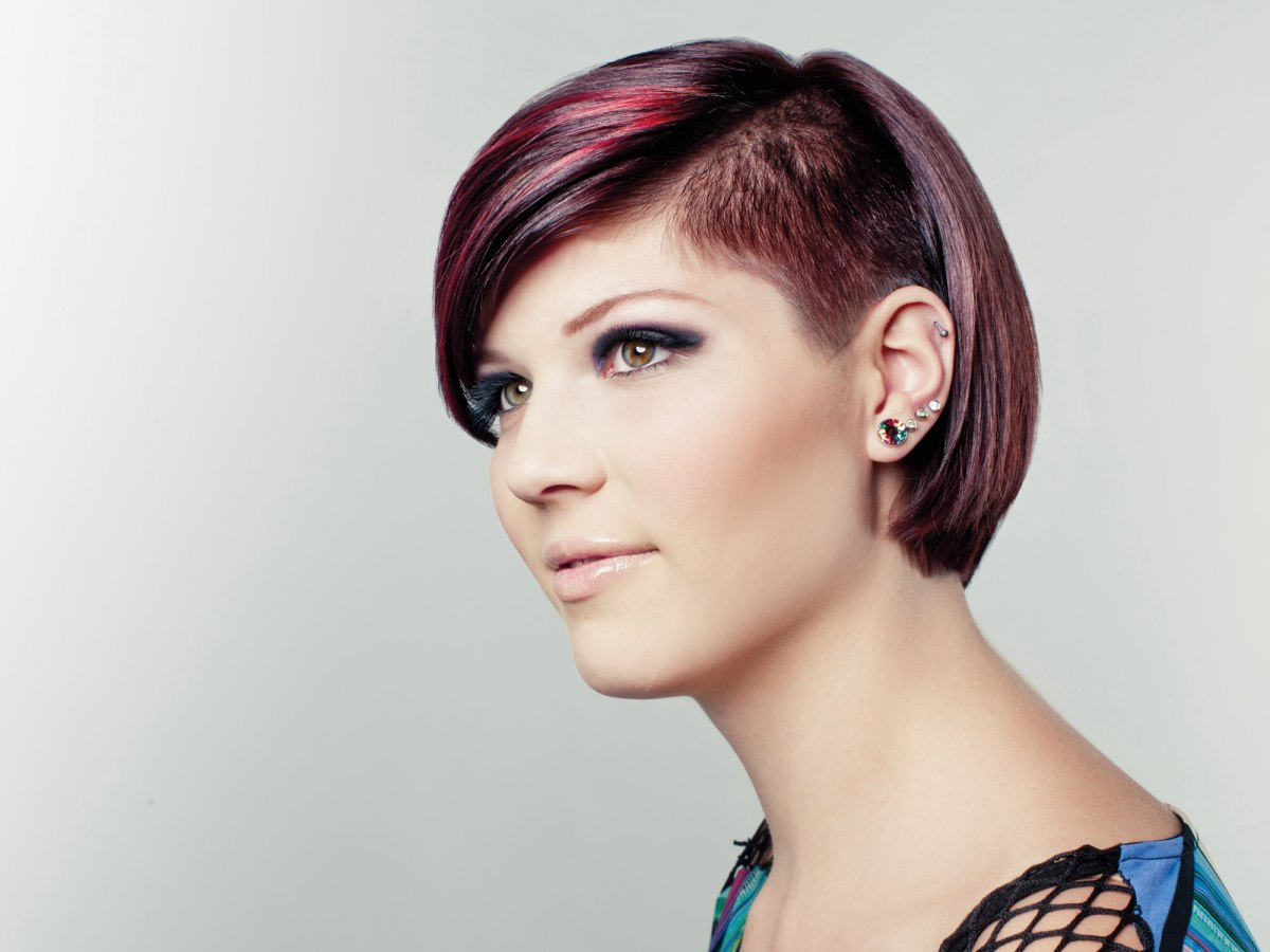 Short Urban Hipster Hairstyle With A Triangular Undercut