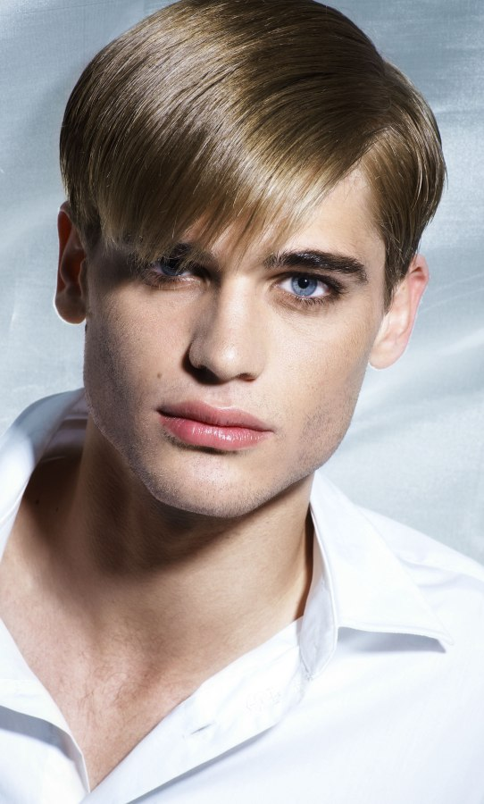 Retro Mens Hairstyle With Sleekness And Shine