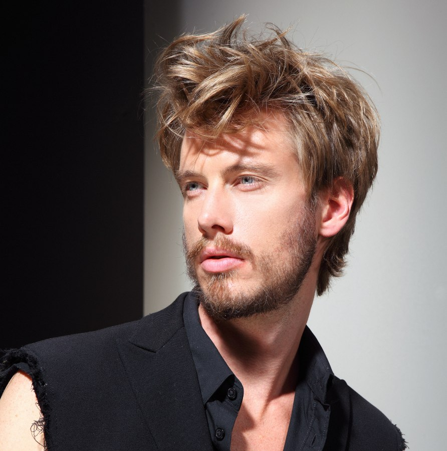 Mens Haircut With Short Sides And Longer Disheveled Top Hair