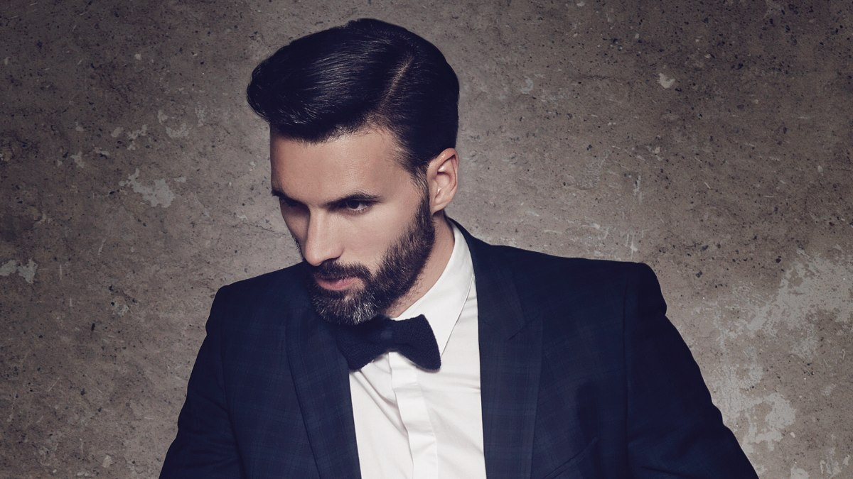 Fine Mens Hairstyle With Pomade Styling