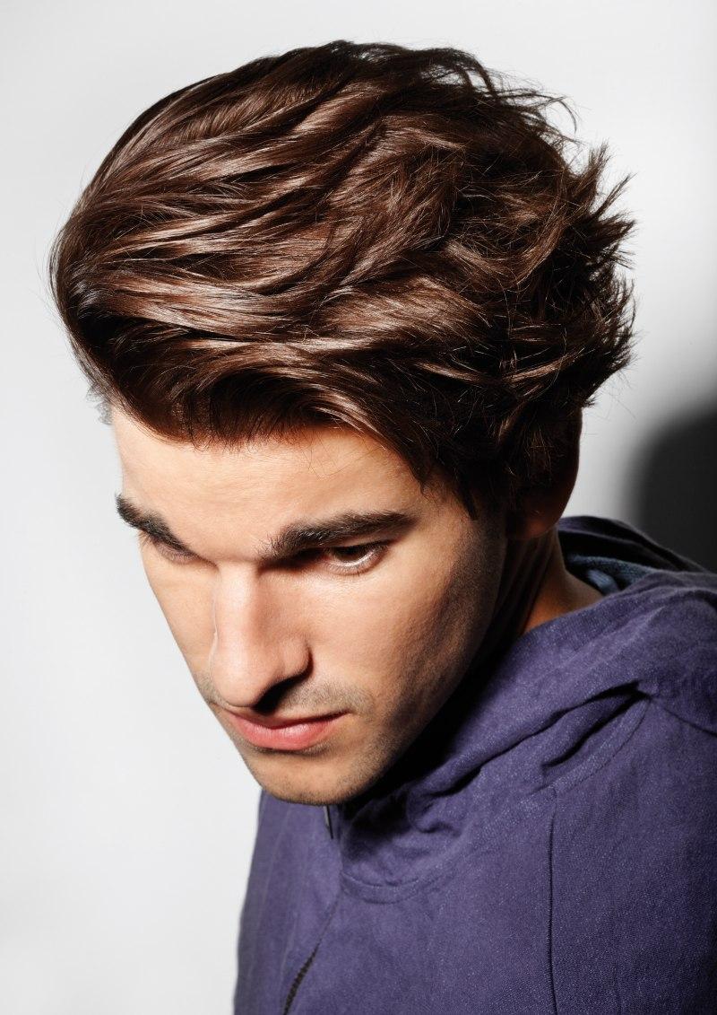 Top View Of Mens Hair