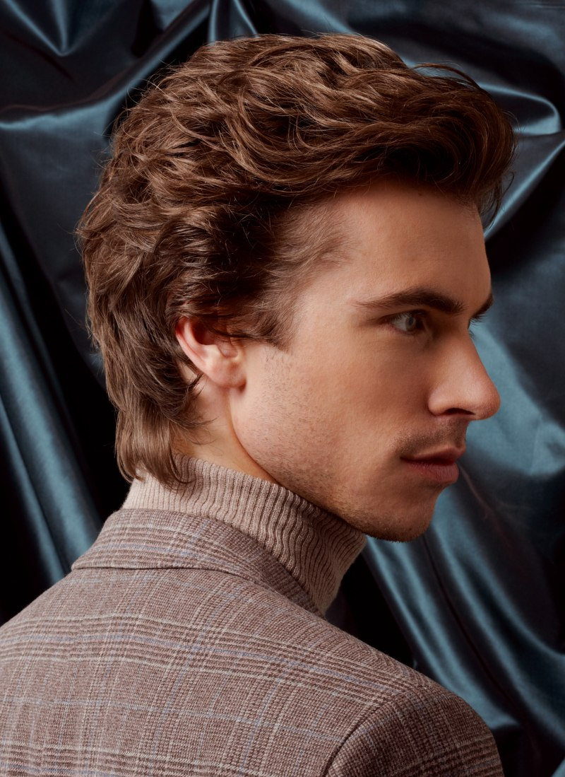 Timeless Male Hairstyle For Longer Hair Side View