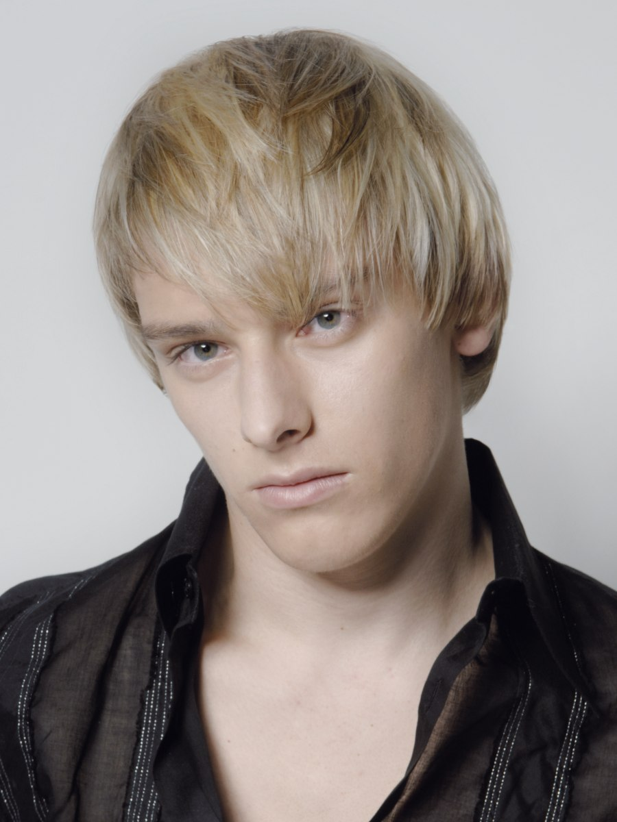 Blonde Young Man With Layered And Textured Hair