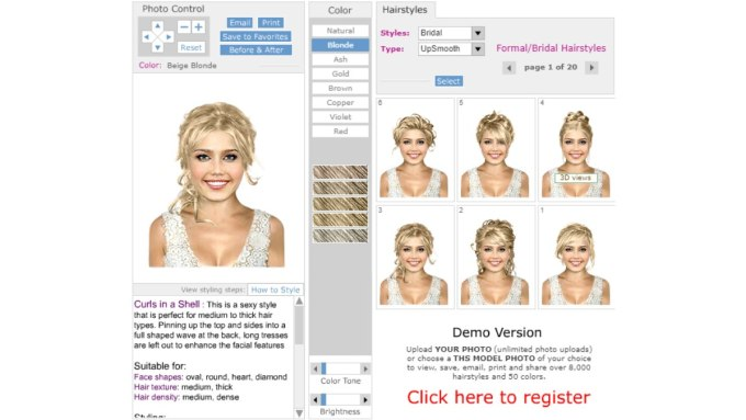 try wedding hairstyles on your photo - free virtual hair app