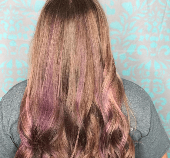 Peekaboo hair highlights