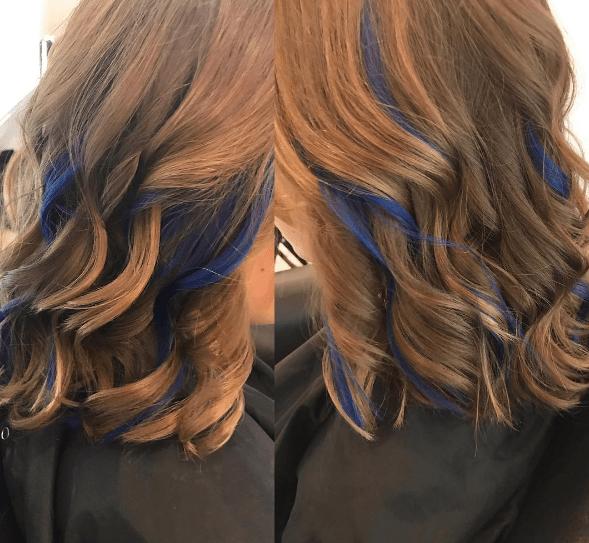 Peekaboo hair