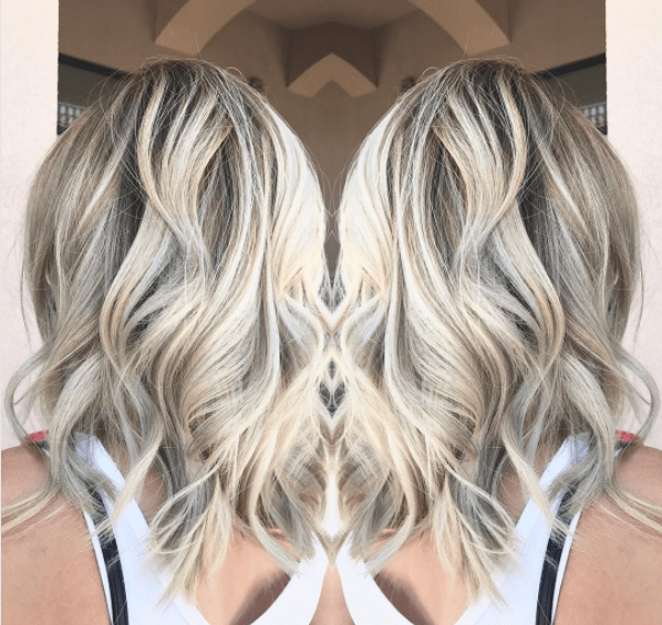 ASh blonde balayage highlights