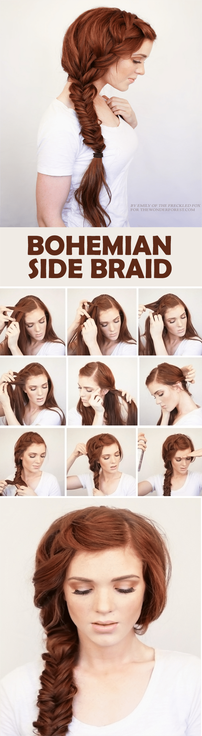 BOHEMIAN SIDE BRAID HAIRSTYLE