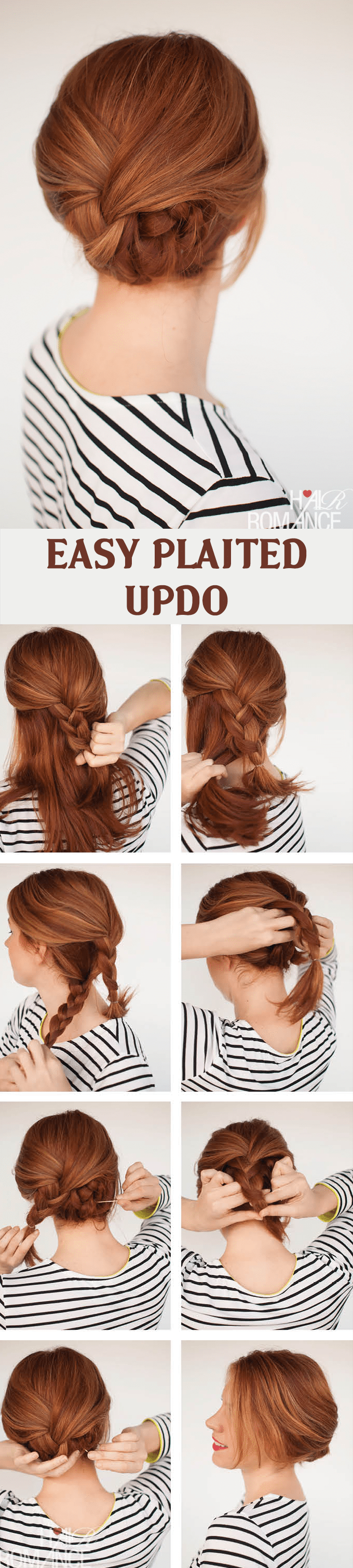 EASY PLAITED UPDO HAIRSTYLE