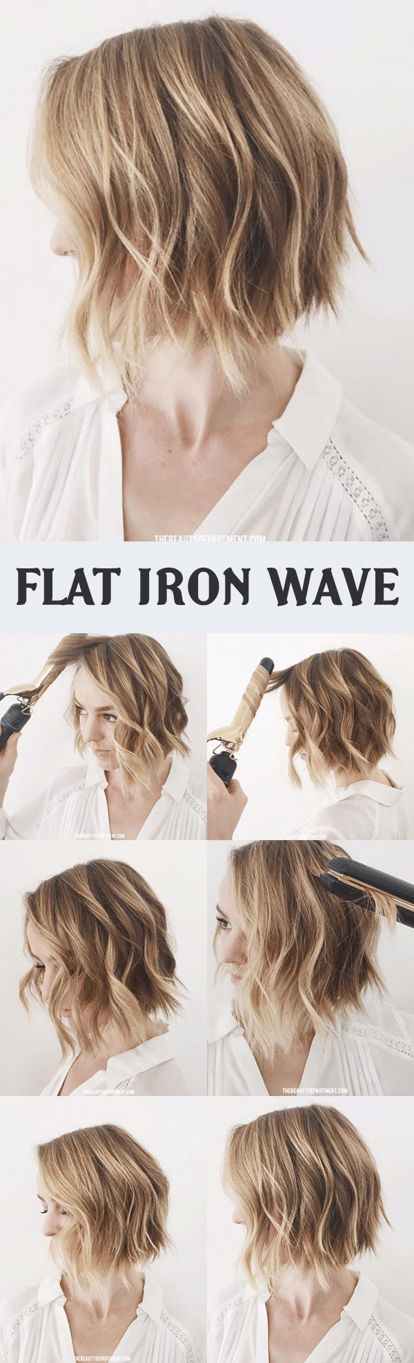 FLAT IRON WAVE HAIRSTYLE