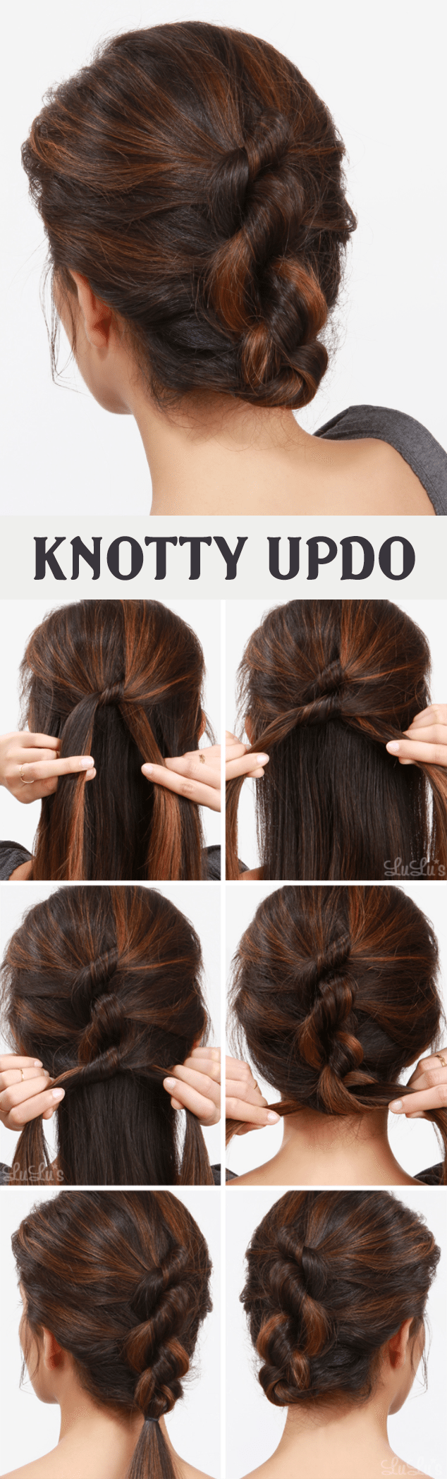 KNOTTY UPDO HAIRSTYLE