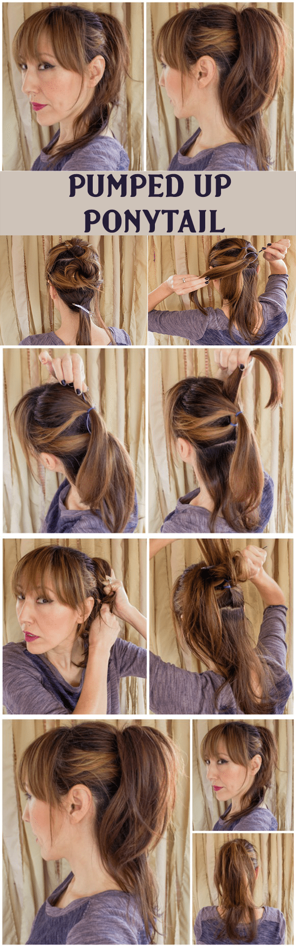 PUMPED UP PONYTAIL HAIRSTYLE