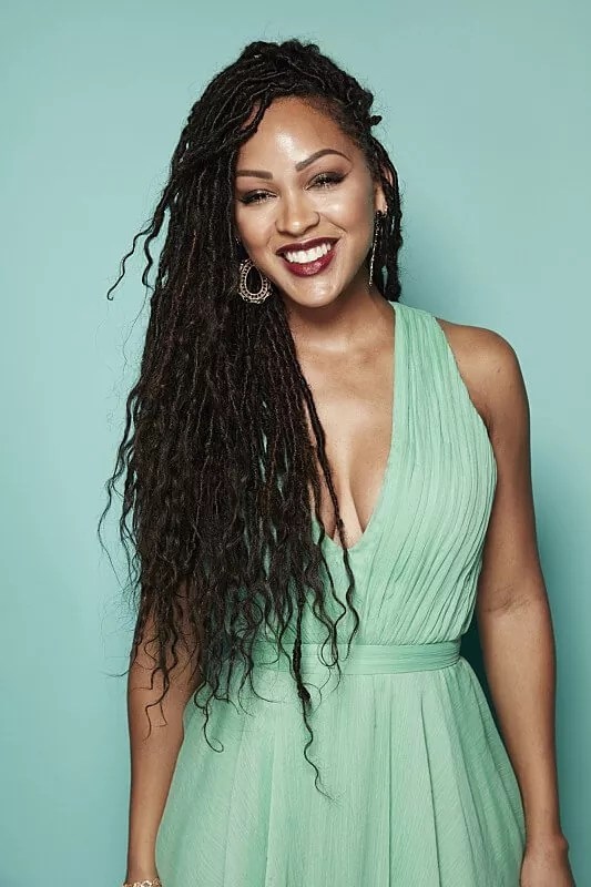 playful faux locs hairstyle