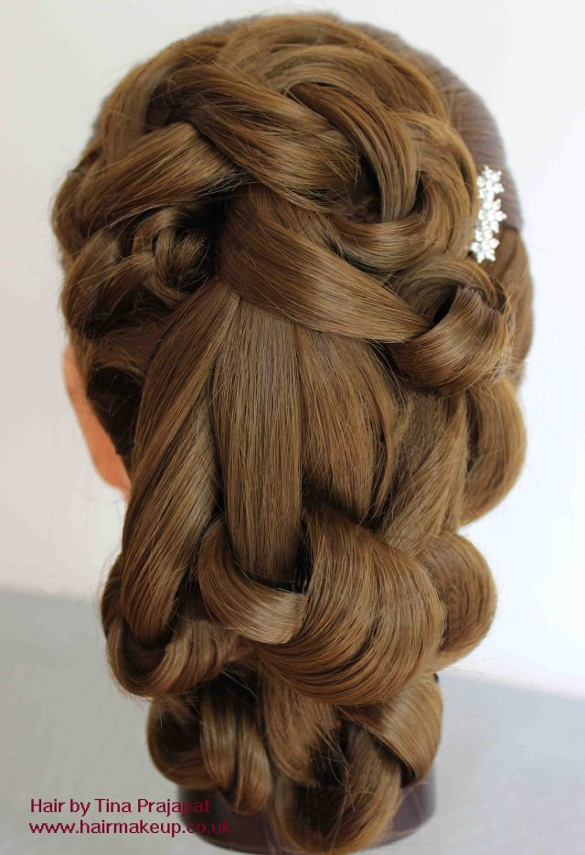 step by step loosely draped knotted hairstyle - tina prajapat