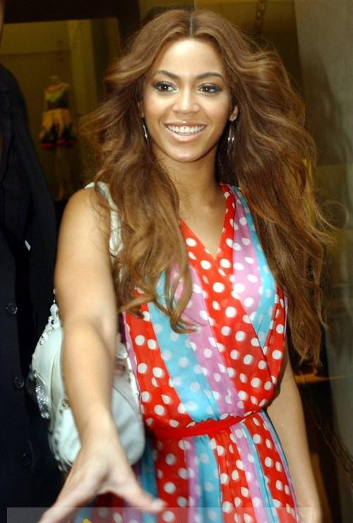 20 Inch Sparkle Long Brown Beyonce Knowles Wavy Chic Wig