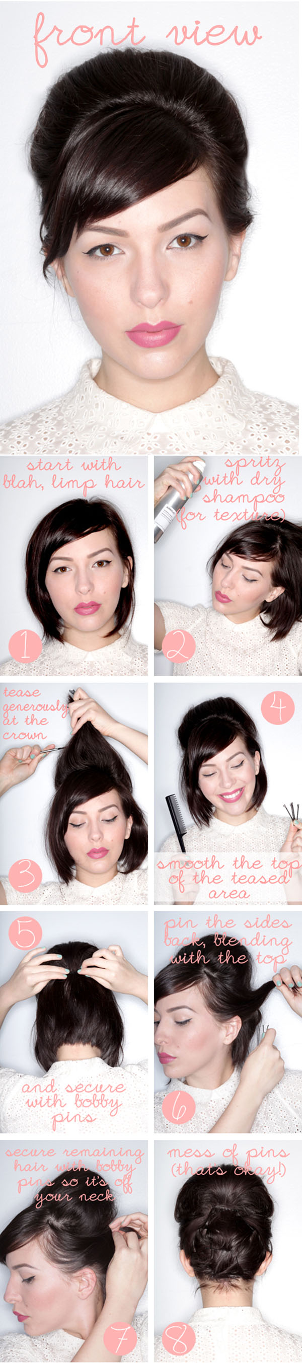 how to do an updo in short hair - hair romance