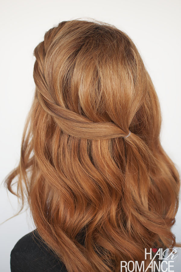 The Twist Back Easy Half Up Hairstyle Tutorial Hair