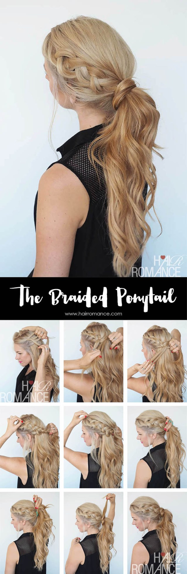 get out of a hair rut - braided ponytail hairstyle tutorial