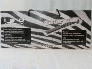 ISO Spectrum Pro Hair Straightener - Silver Zebra 5