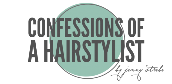 The confessions of a hairstylist blog logo