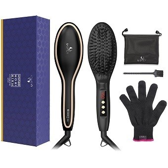 USpicy Hair Straightening Brush
