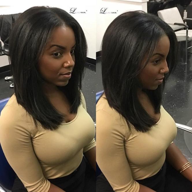 Medium Length Black Hairstyles 227461 Shoulder Unique African American Hair