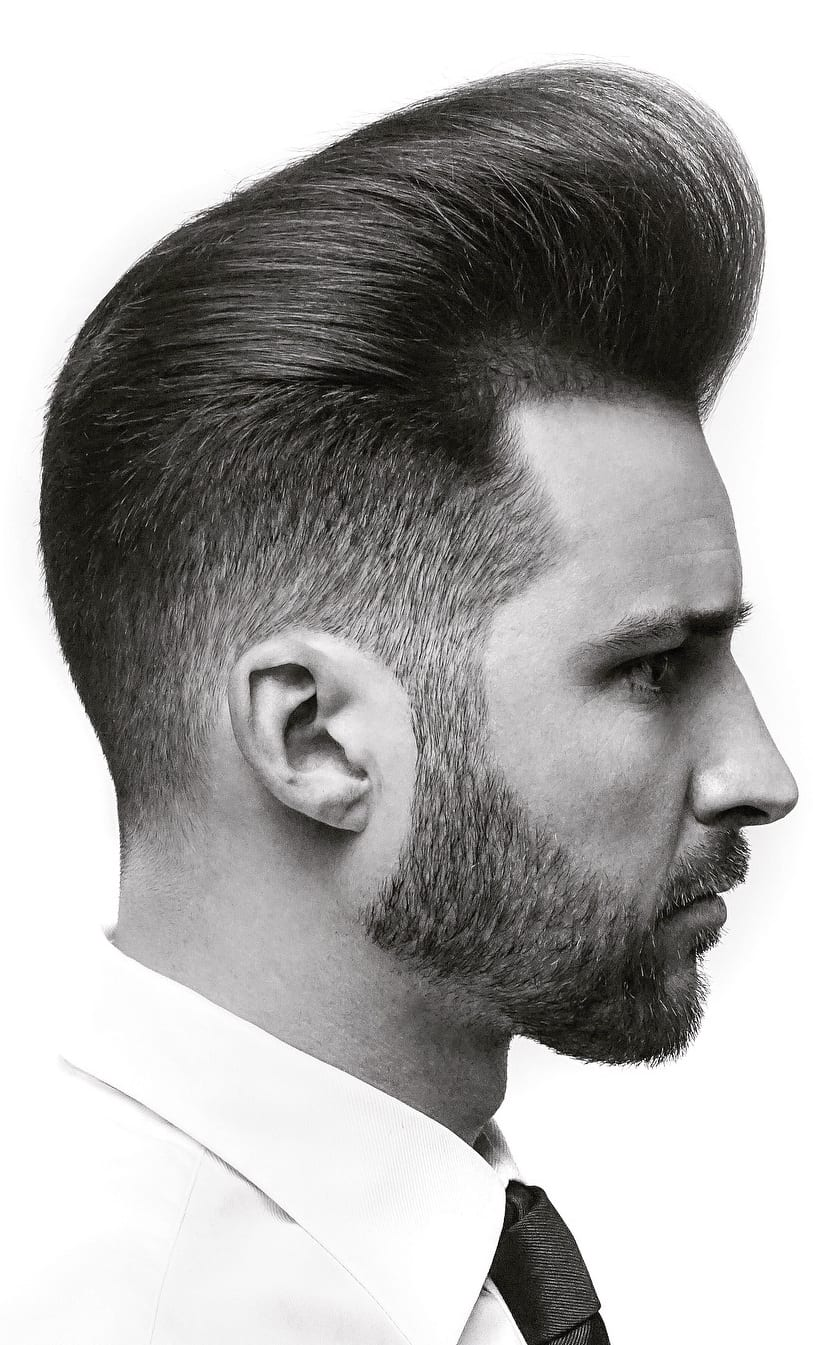 High Fade Pompadour Hairstyle Worth Trying