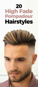 High Fade Pompadour Hairstyle.
