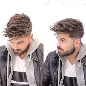 Men-with-Fade-with-medium-length-hair