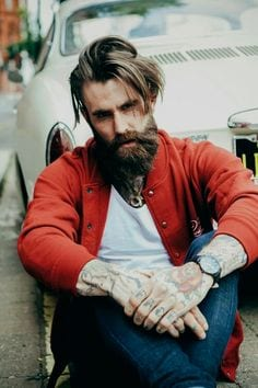 Medium length hipster haircut for men