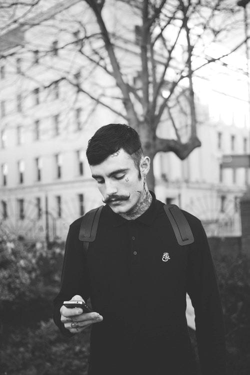 Short Hipster Hairstyle for men With moustache